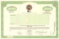 Reink Inc. stock certificate specimen circa 1999
