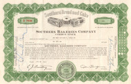 Southern Bakeries Company stock certificate 1961