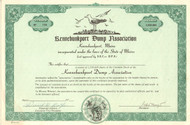 Kennebunkport Dump Association stock certificate 1970's (Maine)