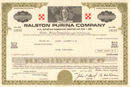 Ralston Purina Company bond certificate 1970's (cereal - pet food)