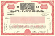 Ralston Purina Company bond certificate specimen (cereal - pet food)