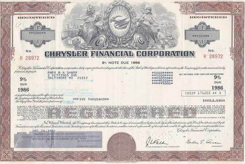 Chrysler Finance bond - brown