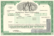 Bethlehem Steel Corporation stock certificate 2002 (famous bankruptcy)
