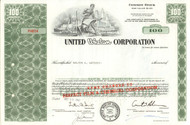 United Whelan Corporation stock certificate 1967 (tobacco)