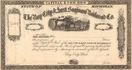 Bay City and East Saginaw Railroad Company stock certificate circa 1864 (Michigan)