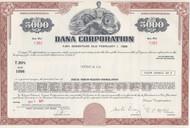 Dana Corporation $5000 bond certificate 1971
