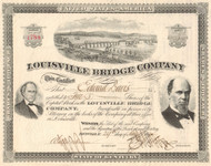 Louisville Bridge Company stock certificate 1890's (Kentucky)