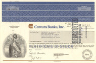 Centura Banks Inc. stock certificate 1990's (North Carolina)