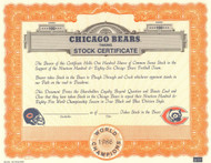 Chicago Bears Taking Stock stock certificate 1986 (football fans)