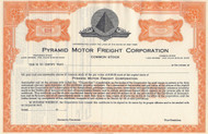 Pyramid Motor Freight stock certificate