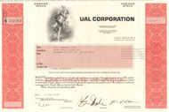 UAL Corporation stock certificate 2002