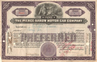 Pierce-Arrow Motor Car Company stock certificate 1925