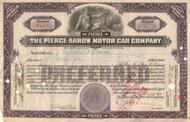 Pierce-Arrow Motor Car Company stock certificate 1925