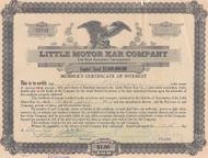 Little Motor Kar Company stock certificate 1919
