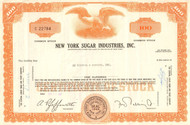 New York Sugar Industries Inc. stock certificate 1969 (sugar beets)
