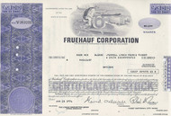 Fruehauf stock certificate - purple - less than 100 shares