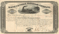 Maine Central Railroad Company stock certificate 1892