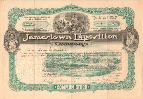 Jameston Exposition Company 1906