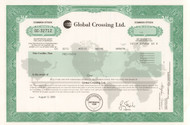 Global Crossing stock certificate - scandal