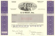 US West stock certificate specimen