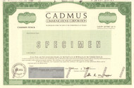 Cadmus Communications stock certificate specimen