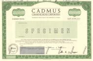 Cadmus Communications stock certificate specimen