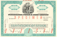 Pennsylvania Power & Light Company stock certificate specimen