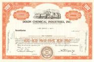 Dixon Chemical Industries stock certificate 1959