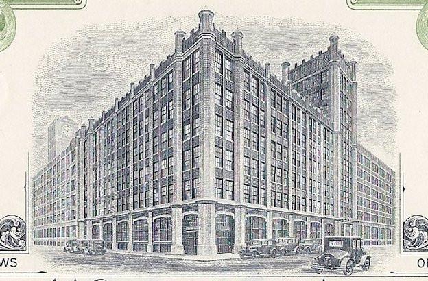 Stewart-Warner Corporation Stock Certificate Chicago, Speedometers