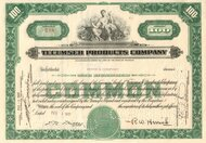 Tecumseh Products Company stock certificate (1937)