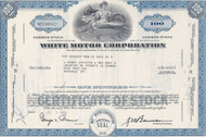 White Motor Corporation stock certificate - blue