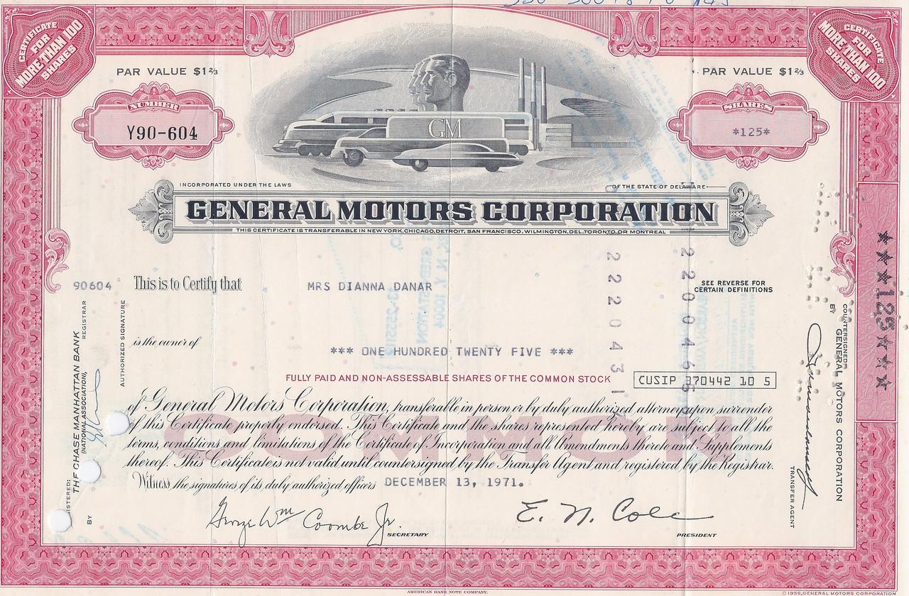 General Motors Gm Modern Rare Colors