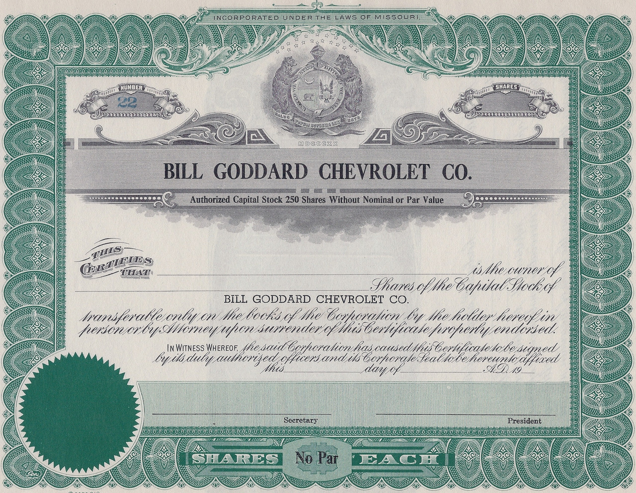 Bill Goddard Chevrolet 1950 S