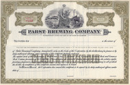 Pabst Brewing Company stock certificate 1930's