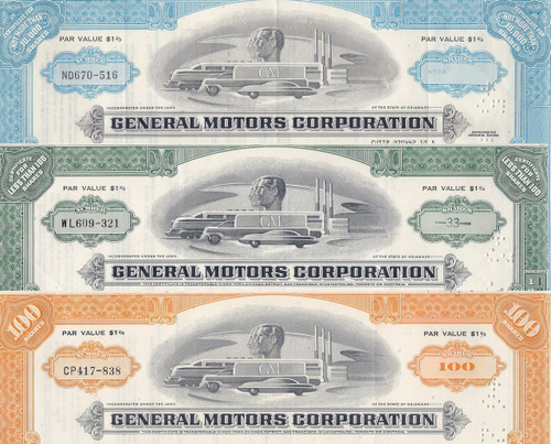 General Motors (GM) Color Set of 3 colors
