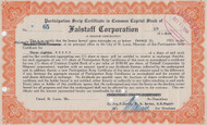 Falstaff Corporation Scrip 1934 certificate