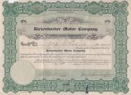 Rickenbacker Motor Company stock certificate 1922