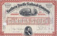 Northern Pacific Railroad Company 1895 stock certificate