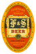 F&S beer label