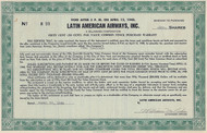Latin American Airways, Inc warrant certificate 1948