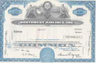 Northwest Airlines, Inc 1972 stock certificate