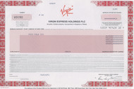 Virgin Express Holdings PLC 2001 stock certificate