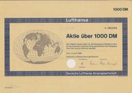 Lufthansa Share 1000 DM - 1966
