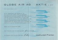 Globe Air AG Aktie (Share) certificate 1966