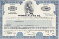 UAL bond certificate 1978 - blue