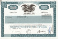Skywest, Inc. 2001 stock certificate
