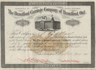 Brantford Carriage Company 1891 stock certificate