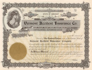 Vermont Accident Insurance Company circa 1961 stock certificate