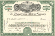 Pennsylvania Railroad (Horseshoe Curve) stock certificate - green