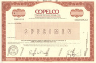 COPELCO Financial Services Group specimen stock certificate